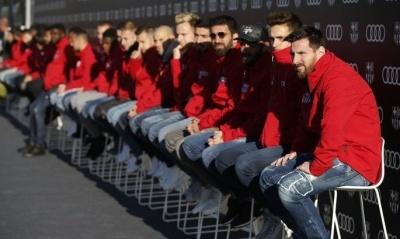 Гравці «Барселони» на нових Audi поганяли на трасі Формули-1