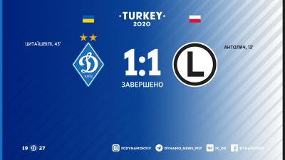 «Динамо» не вдалося виграти перший матч року
