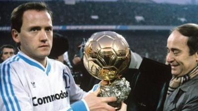 «Золотий м'яч» у Ігоря Бєланова. Як вболівальники вшанували легенду великим банером