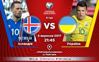 Ісландія - Україна: стартові склади, ОНЛАЙН, ТЕКСТ