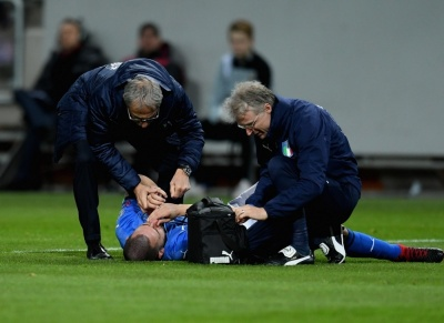 Захиснику збірної Італії зломали ніс на першій хвилині матчу