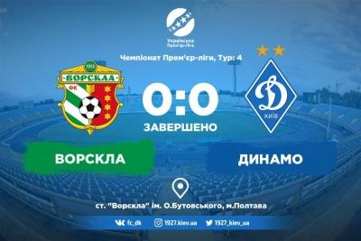 Атракціон невикористаних можливостей. «Ворскла» — «Динамо»: 0:0