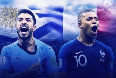 Уругвай – Франція: прогноз від букмекерів на матч 1/4 фіналу ЧС-2018